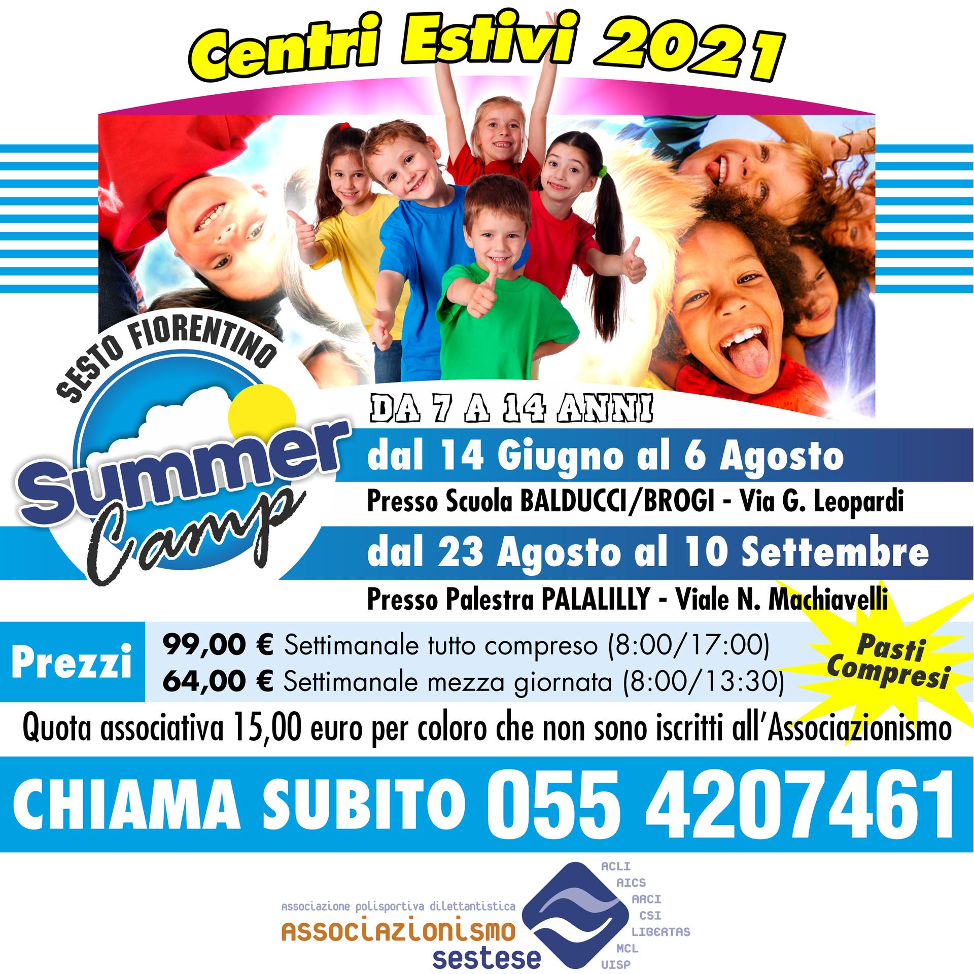 Prezzi e Luogo (Summer Camp)